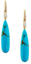 Rina Limor Fine Jewelry Signature Turquoise & Diamond Drop Earrings