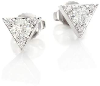 Hearts On Fire Triplicity Diamond & 18K White Gold Stud Earrings