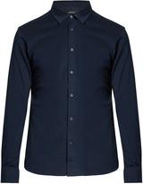 Ermenegildo Zegna Button-down long-sleeved cotton polo shirt