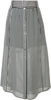 A.L.C. belted striped skirt - women - Silk/Polyester - 2