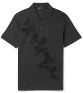 Alexander Mcqueen - Slim-fit Embroidered Cotton-piqué Polo Shirt