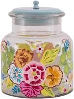 Karma Living Small Hand Painted Glass Jar - Turquoise
