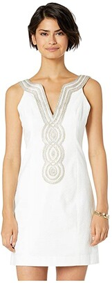Lilly Pulitzer Valli Shift Dress (Resort White) Women's Dress