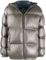 Mr & Mrs Italy hooded quilted-down jacket