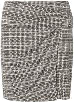 Dorothy Perkins Grey Dogtooth Print Knot Mini Skirt