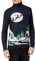 Topman Men's Slim Fit Holiday Turtleneck Sweater