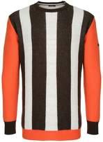 GUILD PRIME contrast stripe sweater