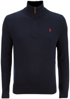 Polo Ralph Lauren Mock Neck Knitted Jumper Hunter Navy