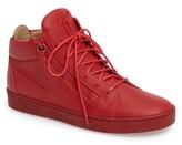 Giuseppe Zanotti Men's Side Zip Mid Top Sneaker