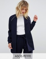 Asos Longline Bomber with Raglan Sleeve Co-ord