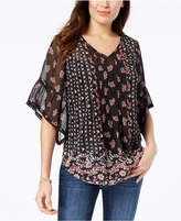Style&Co. Style & Co Petite Sheer V-Neck Tunic, Created for Macy's