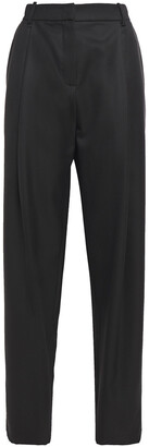 Magda Butrym Pleated Houndstooth Wool Tapered Pants