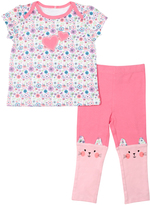 Cutie Pie Baby Pink Floral Heart Top & Pants