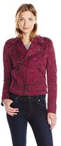 Anne Klein Women's Camo Jacquard Moto Jacket