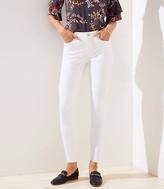 LOFT Curvy Slim Pocket Skinny Jeans in White