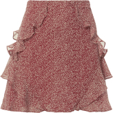 Derek Lam 10 Crosby Red Dot Ruffle Mini Skirt