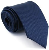 Shlax & Wing Shlax&Wing Solid Navy Necktie Mens Tie Blue Business Silk Extra Long 63""
