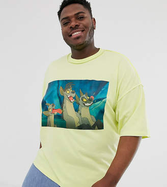 Asos Design Disney The Lion King x DESIGN Plus oversized t-shirt with hyena print-Green