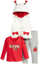 Nannette 3-Pc. Love Bug Vest, T-Shirt & Leggings Set, Toddler & Little Girls (2T-6X)