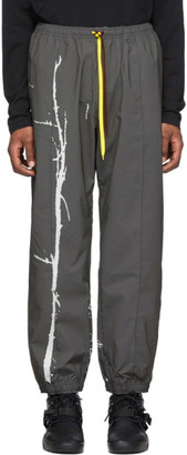 Oakley by Samuel Ross Grey Tree Print Parachute Lounge Pants