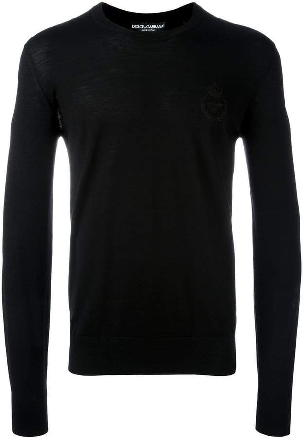 Dolce & Gabbana bee & crown embroidered jumper