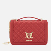 Love Moschino Women's Quilted Medium Flap Shoulder Bag - Red