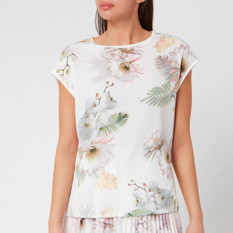 Ted Baker Women's Kcarmaa Woodland Woven Front Top