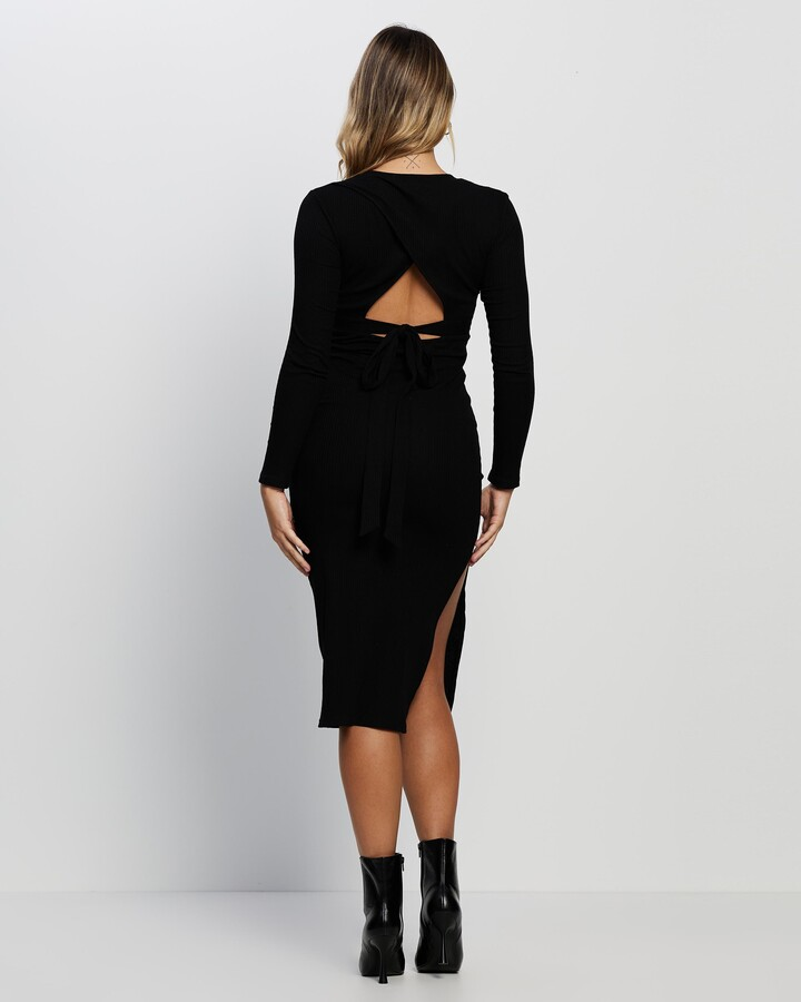 Thumbnail for your product : Atmos & Here Atmos&Here - Women's Black Midi Dresses - Astrid Ribbed Knit Midi Dress - Size 18 at The Iconic