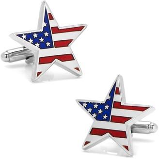 Cufflinks Inc. American Flag Star Cuff Links