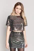 LOVE21 LOVE 21 Sequin Stripe Mini Skirt