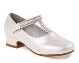 Josmo Beige Pearl Embellished-Strap Mary Jane