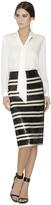 Alice + Olivia Rue Embellished Stripe Pencil Skirt