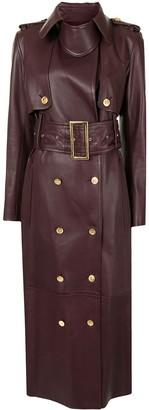KHAITE The Red trench coat