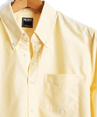 Todd Snyder Solid Oxford Shirt in Yellow