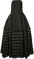Christian Siriano flared tassle gown