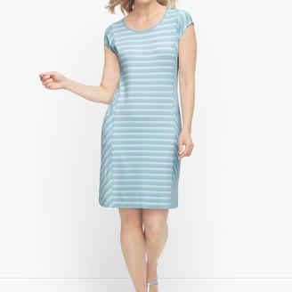 Talbots Back Cutout Stripe Dress