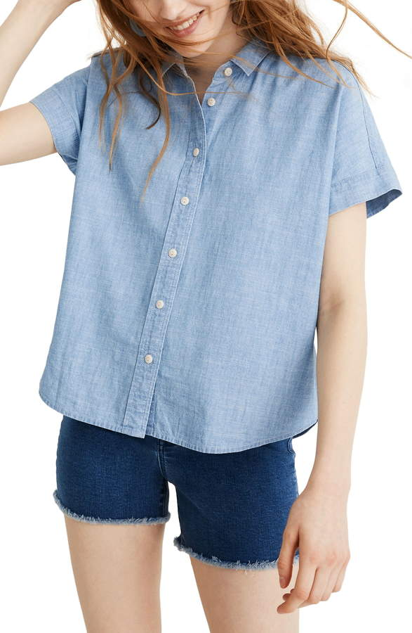 26c5310b Boxy Button Down Shirt Women - ShopStyle