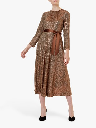 Hobbs Salma Dress, Copper