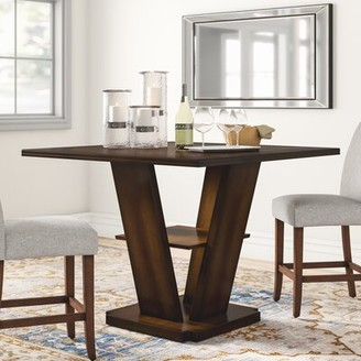"""Three Posts Allenville Counter Height Dining Table Tabletop Size: 36"""" H x 47.5"""" W x 47.5 """" D"""