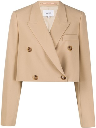 Nanushka double breasted cropped blazer