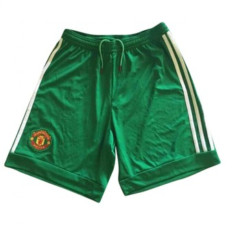 adidas Green Cotton Shorts for Women