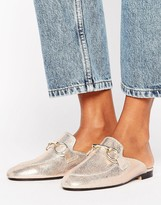 Kg Kurt Geiger Kg By Kurt Geiger Kissy Metallic Leather Slip On Mules