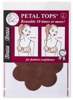 Braza Bra Reusable Petal Tops - One Size - Cocoa
