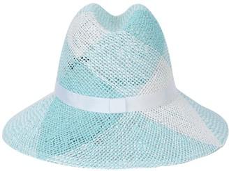 Maison Michel Check Straw Ginger Hat