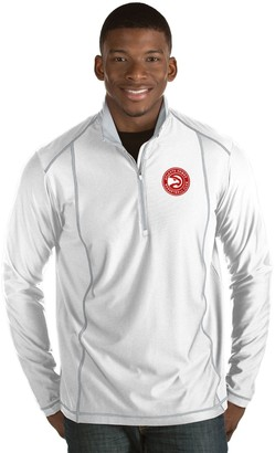 Antigua Men's Atlanta Hawks Tempo Quarter-Zip Pullover