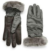 UGG Shearling-Trimmed Gloves