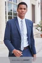 Mens Next Navy Slim Fit Cotton Blend Suit: Jacket - Blue