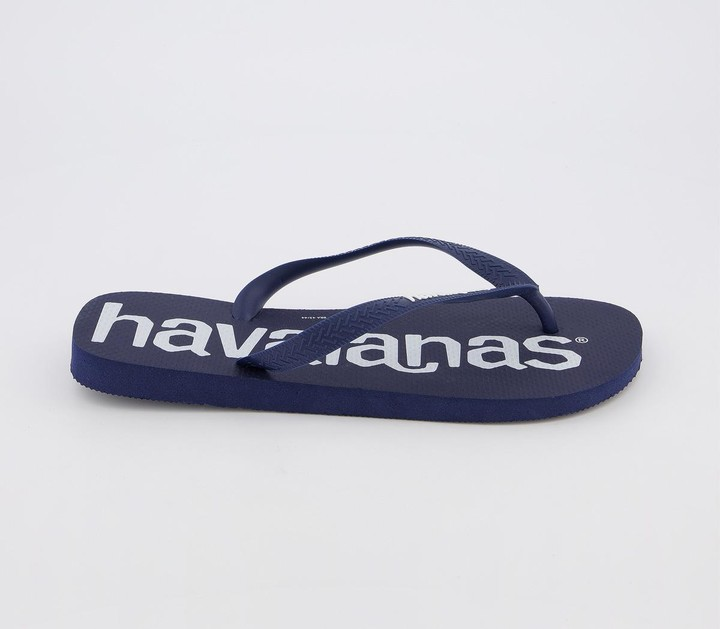 Havaianas Logo Mania Flip Flops Navy