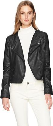 Jack by BB Dakota Women's Louis Drapey Soft Pu Cropped Jacket
