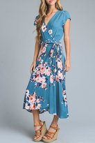 Le Lis Floral Midi Wrap-Dress